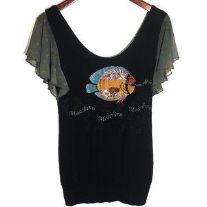 MOSCHINO Embellished top